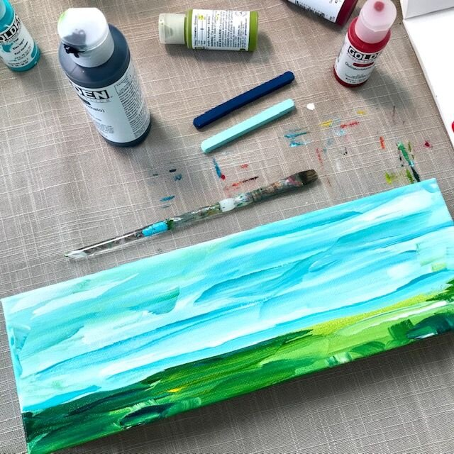 How To Paint An Abstract Landscape Step By Step For Beginners Elle Byers Art
