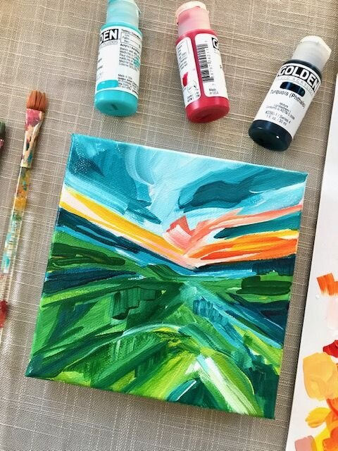 Landscape Painting Acrylic Painting Tutorials And Original Artwork By Elle Byers Learn How To Paint With Acrylics On Canvas Elle Byers Art