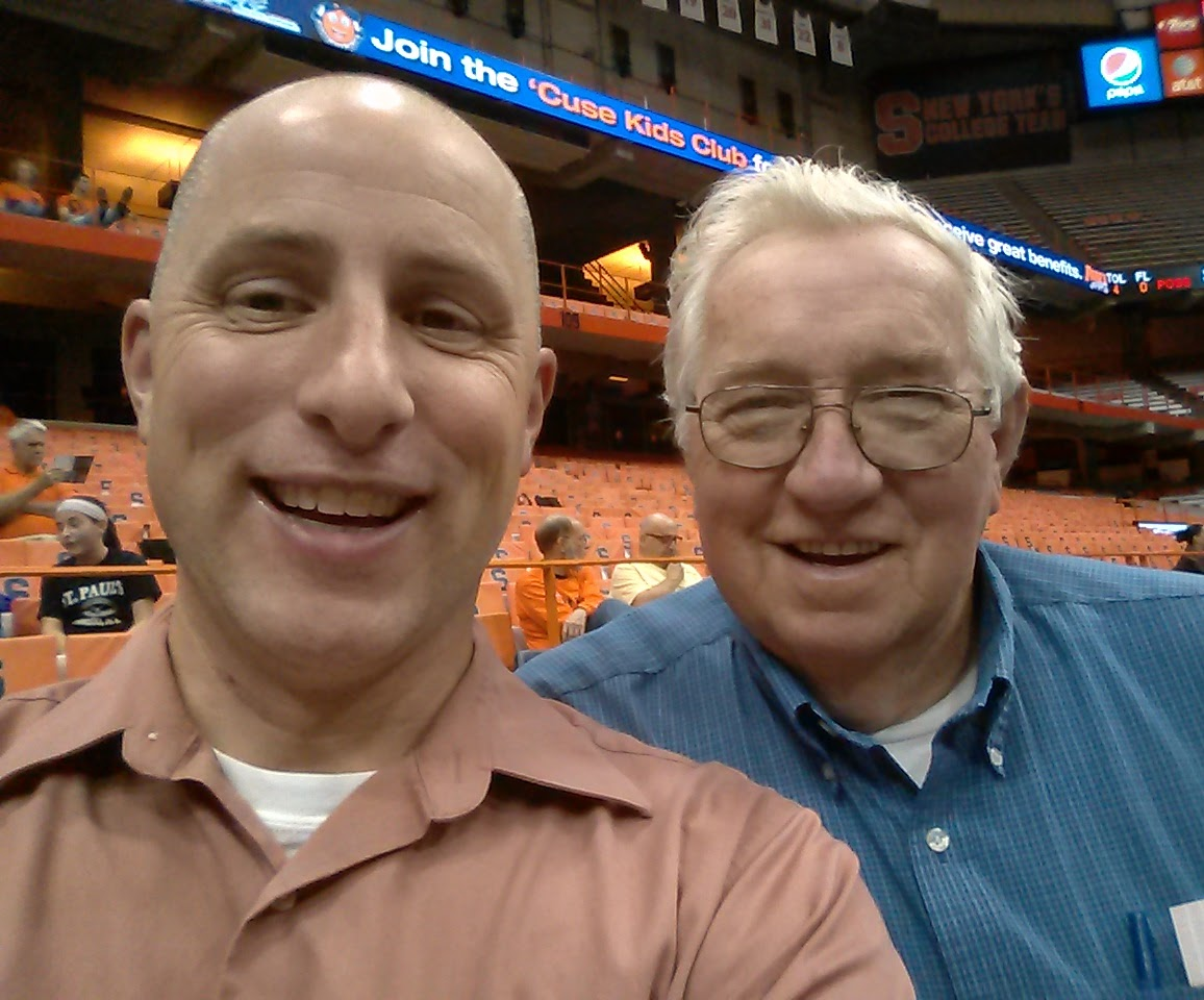Dad and me in our natural habitat, the Carrier Dome for a Women's Basketball Game