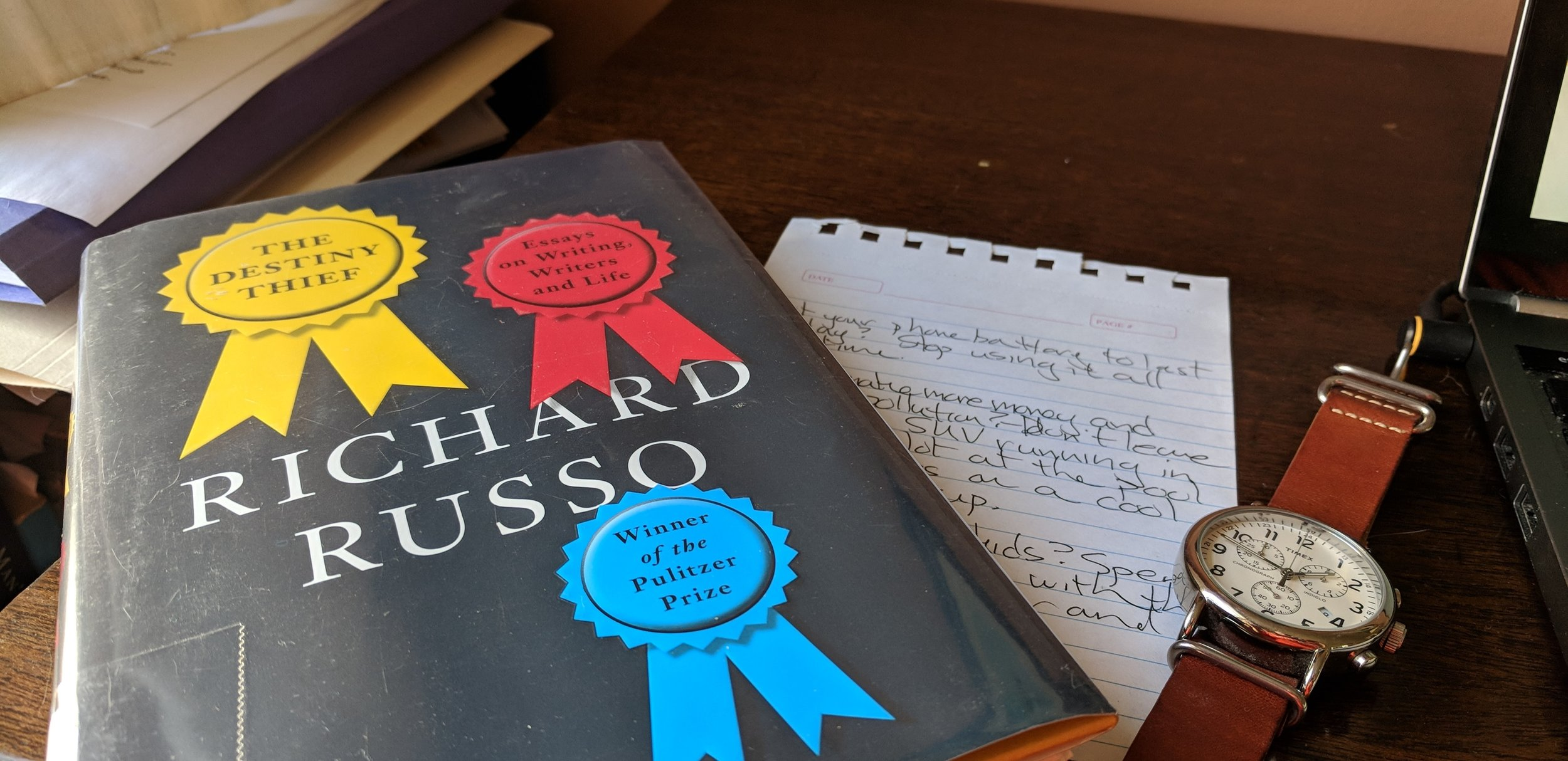 Russo's advice, my notes, and time. Those are at least some of the ingredients.