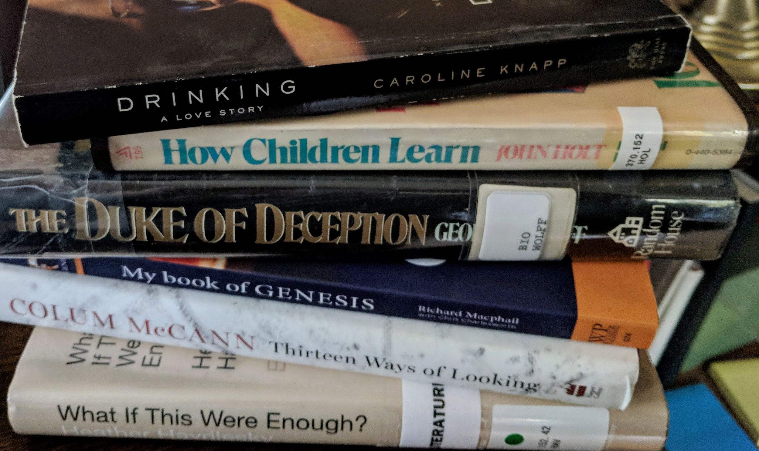 Some of the books that have come to me