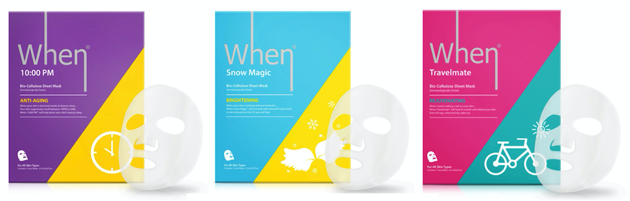 When Mask Bundle - Get 5 each of our Award Winning 10:00PM, Snow Magic, and Travel Mate Bio-Cellulose Face Masks