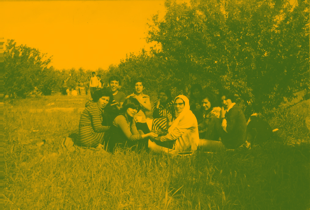 Gathering in the family orchard in Samarra, 1986.