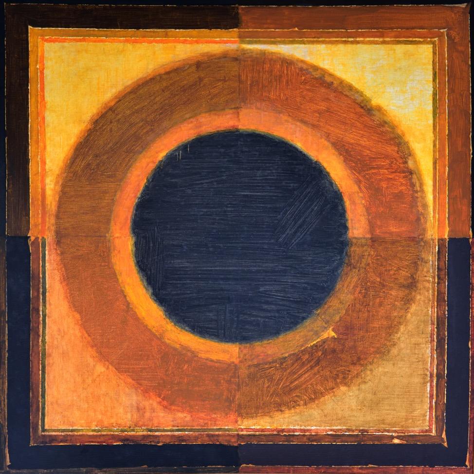 S.H. Raza  Bindu , ca. 1980, Oil on canvas, H. 39 x W. 39in. (99 x 99cm), Collection of Jamshyd and Pheroza Godrej, Image courtesy of the lender