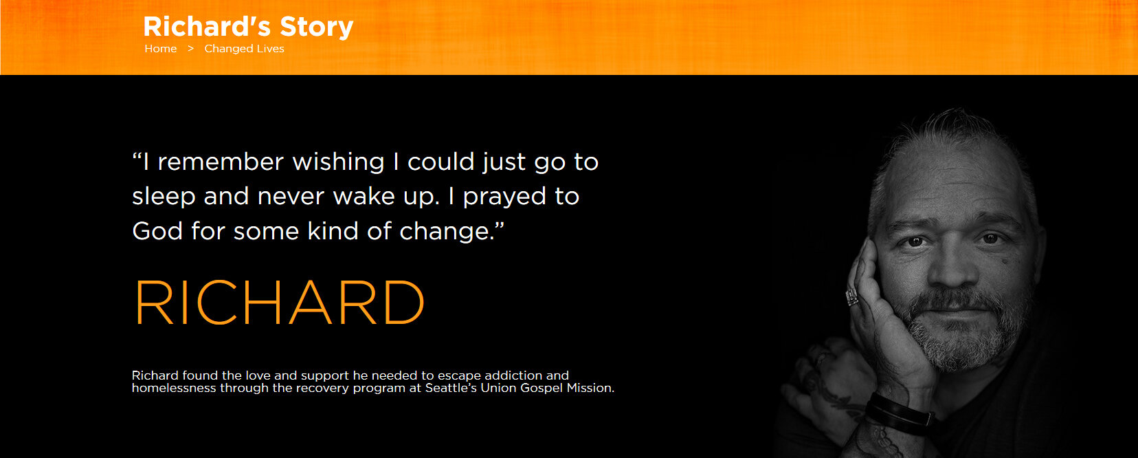 Click on the image to hear Richard's story.