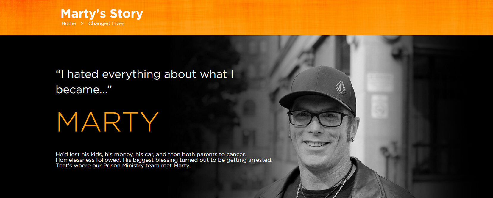 Click on the image to hear Marty's story.