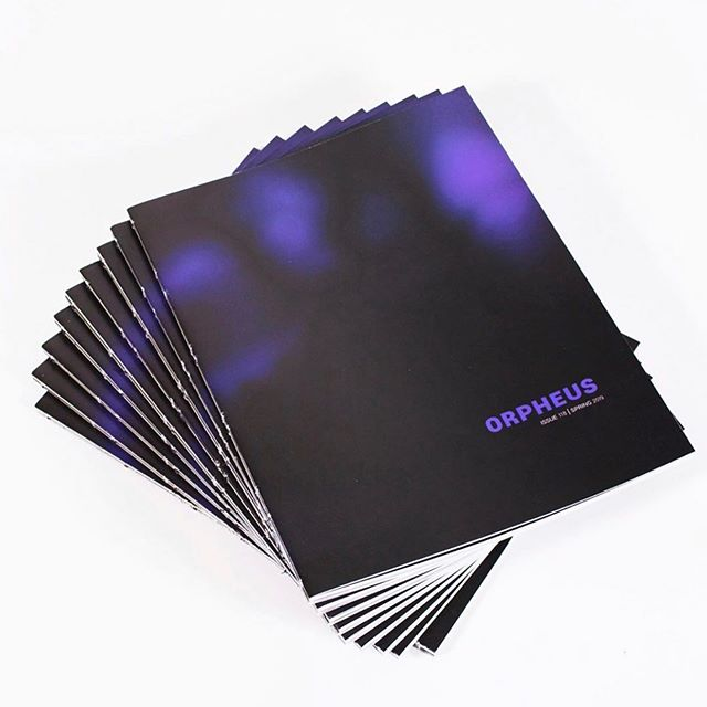 Get a copy of the latest issue of @udorpheus before you leave campus for the summer! Designed by @jesstified_design! 💎 . . . . . #udartanddesign #orpheus #bookdesign #universityofdayton