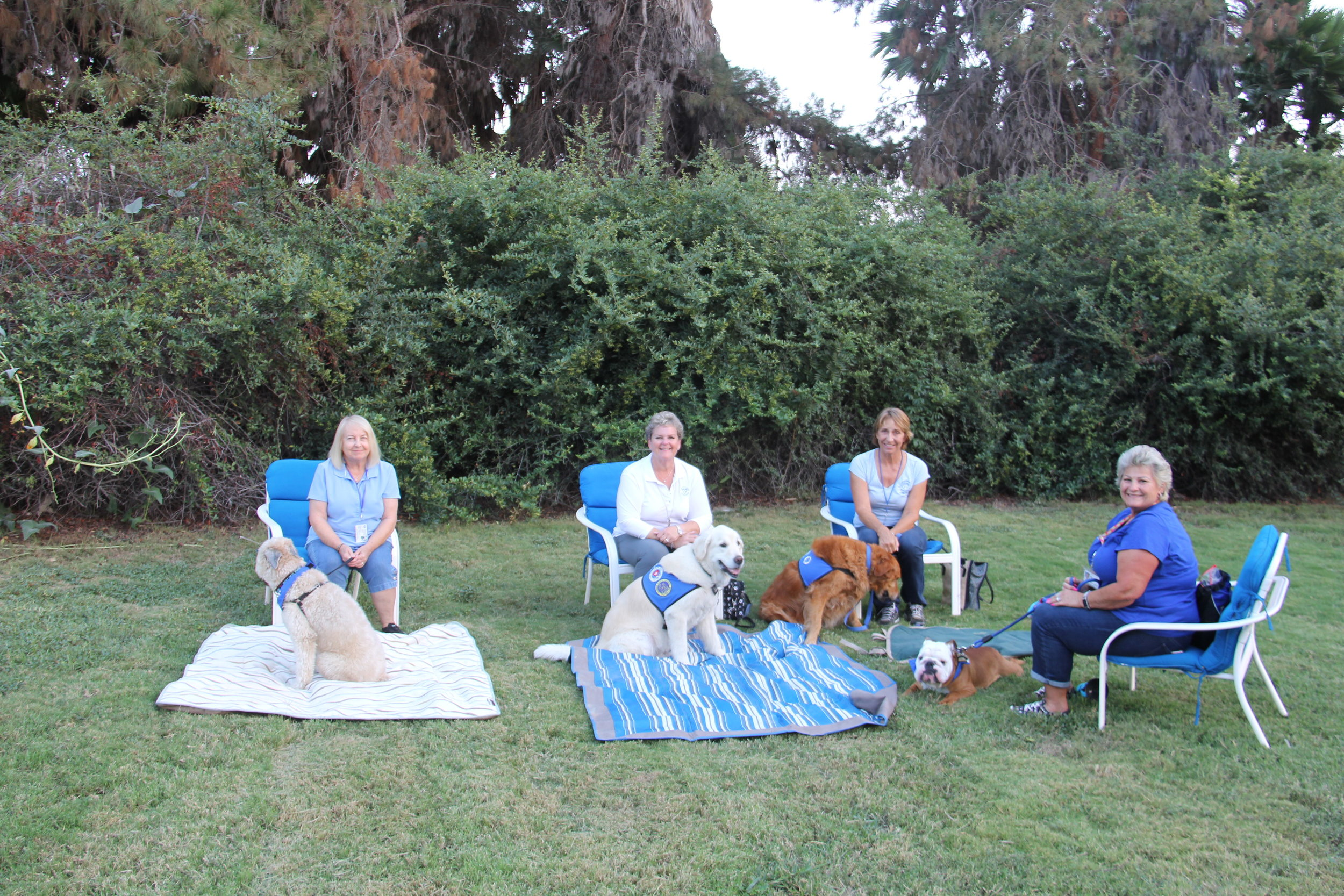 Love on a Leash Central San Diego Chapter came back to welcome rape survivors to Sunlight Retreats and put survivors at ease