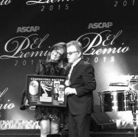 Award presentation, Claudia Brant, Paul Williams-ASCAP Latina Songwriter of the Year 2015
