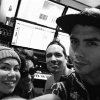 Chiquis Rivera, Claudia Brant, Jeeve, Julio Reyes-Studio session, Los Angeles