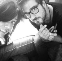 Claudia Brant, Antonio Orozco- Writing session, Brantones Records studio, Los Angeles