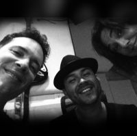 Jeeve, Frankie J, Claudia Brant-Studio session, Los Angeles