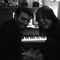 Jencarlos Canela, Claudia Brant- Writing Session, Brantones Records studio, Los Angeles 2014