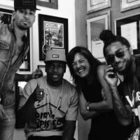 Mottiff, Los Rakas, Claudia Brant-Brantones Records studio, Los Angeles