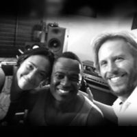 Claudia Brant, Brian McKnight, Noel Schajris-Studio Session, Los Angeles 2013