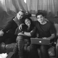 Jesús navarro, Claudia Brant, Julio Ramírez-Writing session with Reik, Brantones Records Studio, Los Angeles 2013