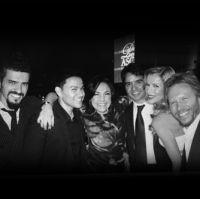 Grecco Buratto, Frankie J, Claudia Brant, Luis Fonsi, Agueda Lopez, Noel Schajris- ASCAP Latino Awards Los Angeles
