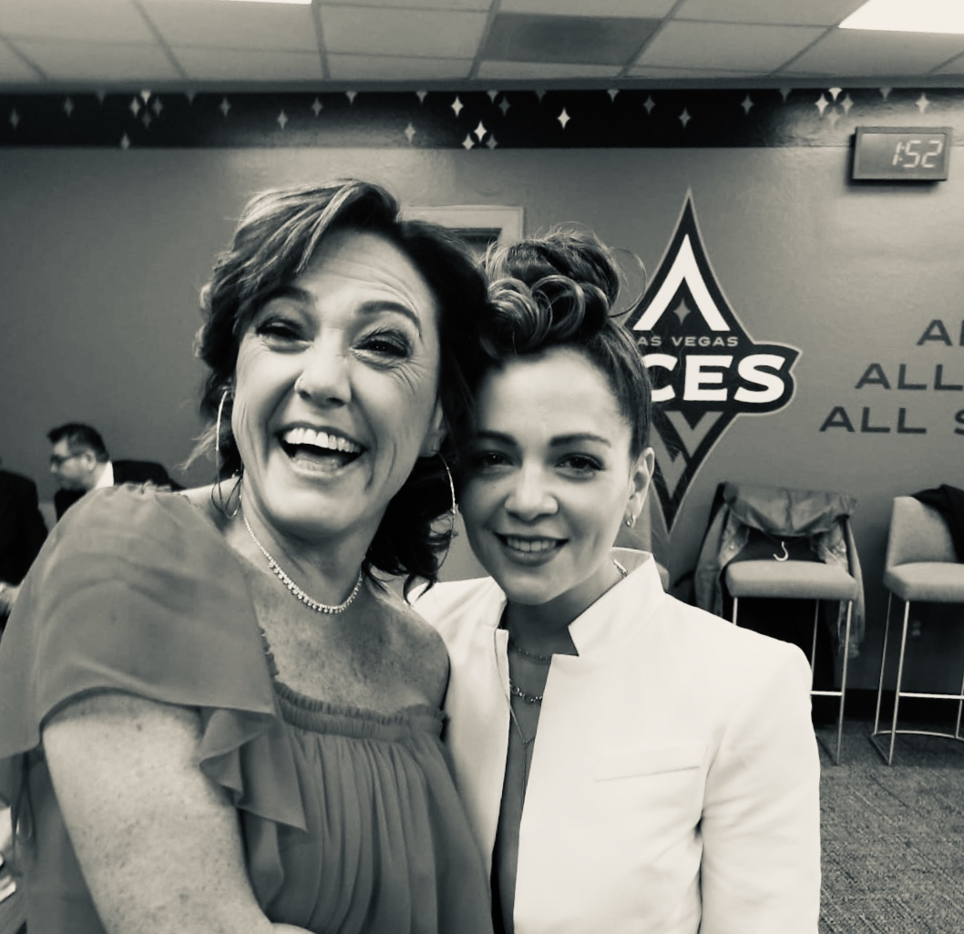 Claudia Brant and Natalia Lafourcade. Latin Grammys, Las Vegas 2018