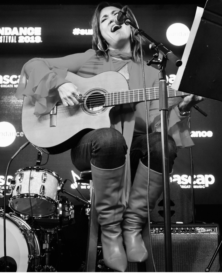 Claudia Brant, Sundance ASCAP Music Café live performance, Park City, Utah - Jan 2019