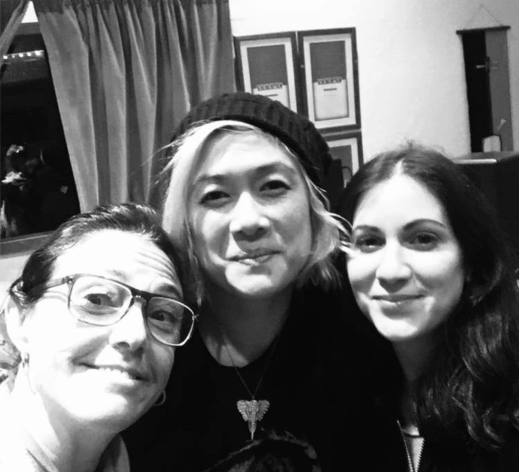 Claudia Brant, Milck, Allee, writing session at Brantones Records - Feb 2019