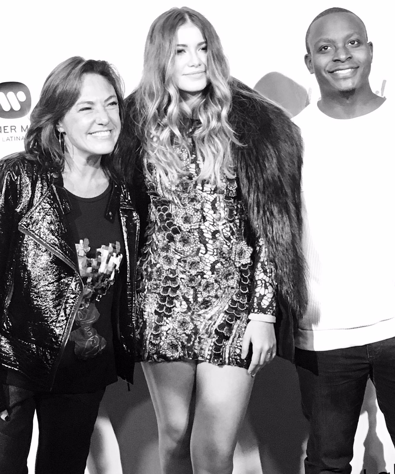 Claudia Brant, Sofia Reyes, Neff-u at Sofia's record release party Sofitel