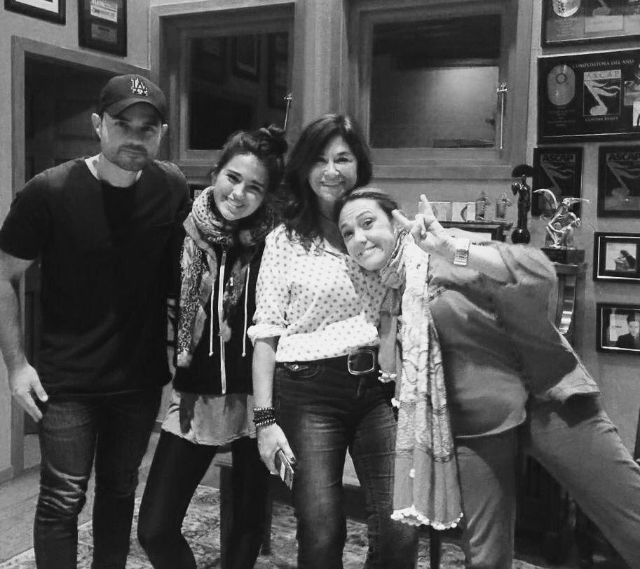 Andy mark, Maia, SHelly, Peiken, Claudia Brant at the studio