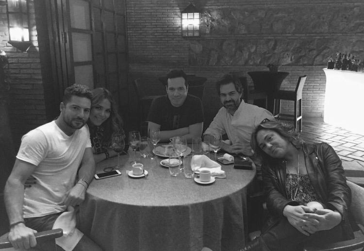 David Bisbal, Jeeve, Rodrigo Sangro Bisbal writing session. Madrid