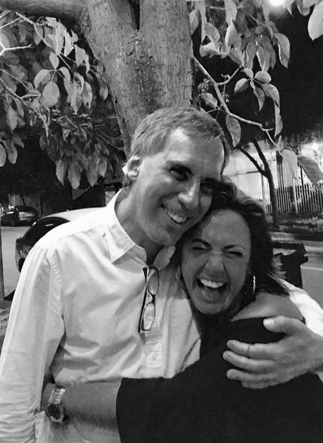 Arnaldo Antunes y Claudia Brant. Sao Paulo