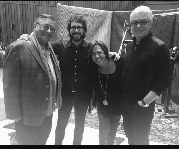 Arturo Sandoval, Josh Groban, Claudia y Greg Fields. Capitol Studios Los Angeles