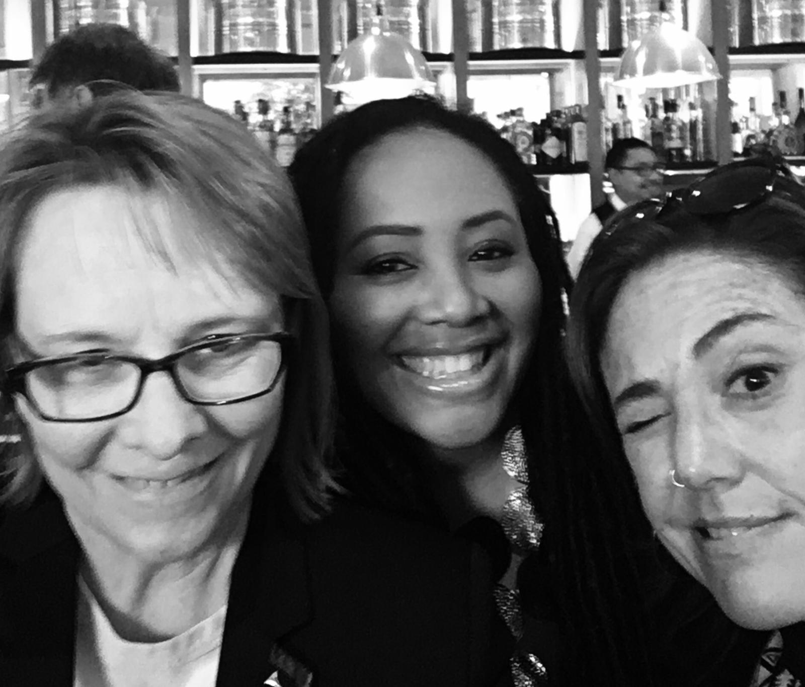 Cheryl Pawlesky, Lalah Hathaway y Claudia Brant
