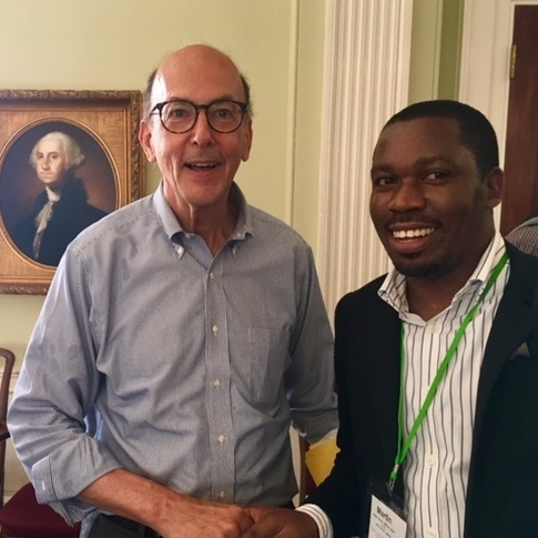 July 2019, At NIH, Dr. Roger Glass, Director of the Fogarty International Center and Dr. Martin Muddu 2017-2018 GHES alumnus Makerere University, Uganda