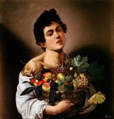 Boy with fruit basket about 1593-94