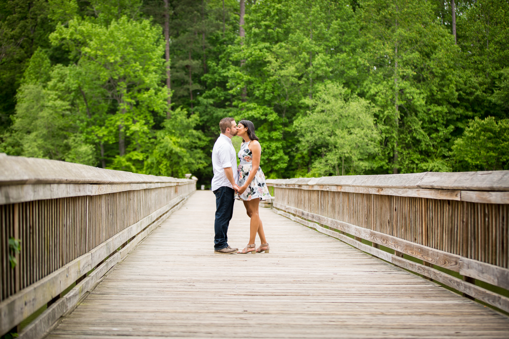 Yates Mill engagement photography session - Raleigh Parks Photography -  H+T