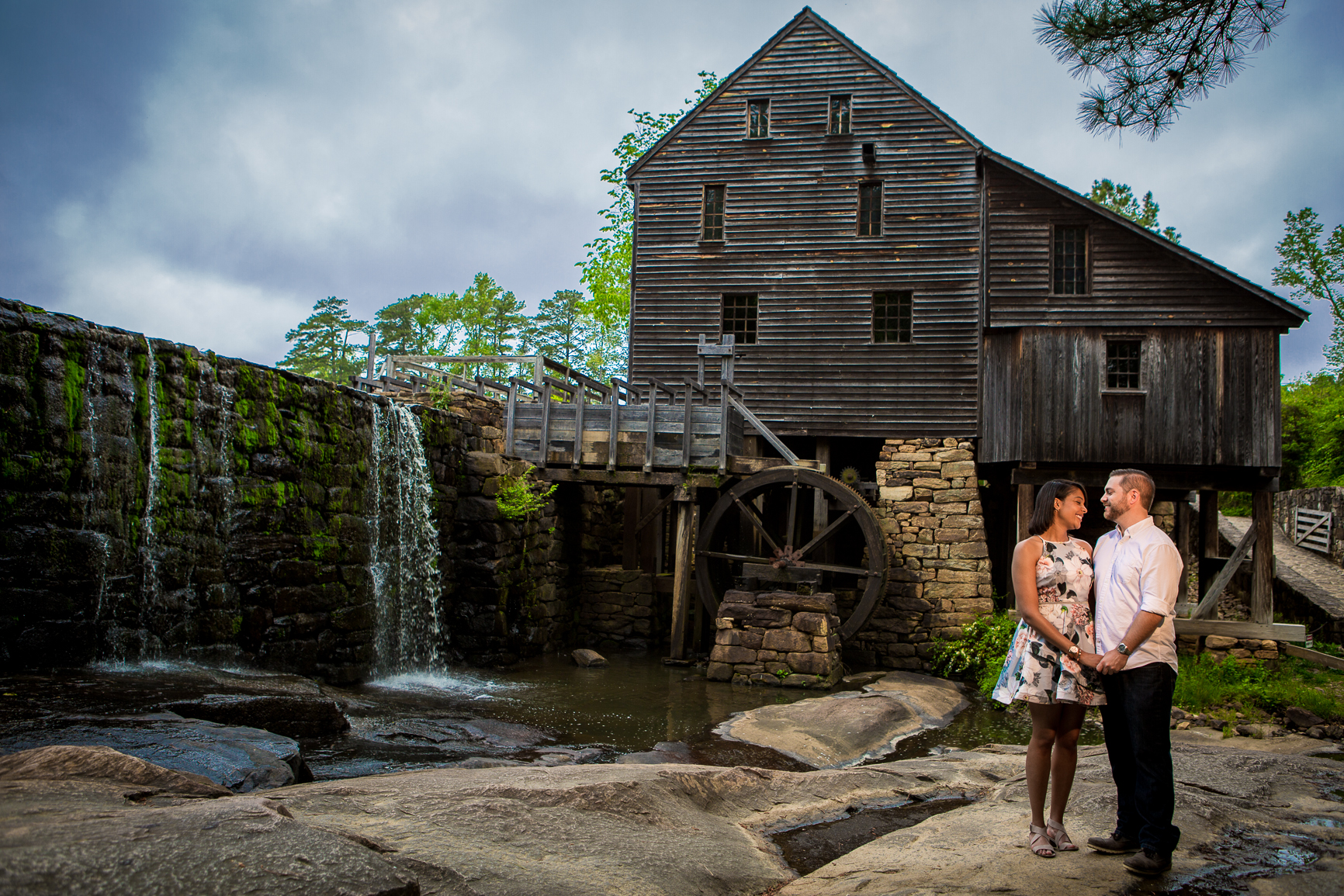 Yates Mill County Park Engagement Photography