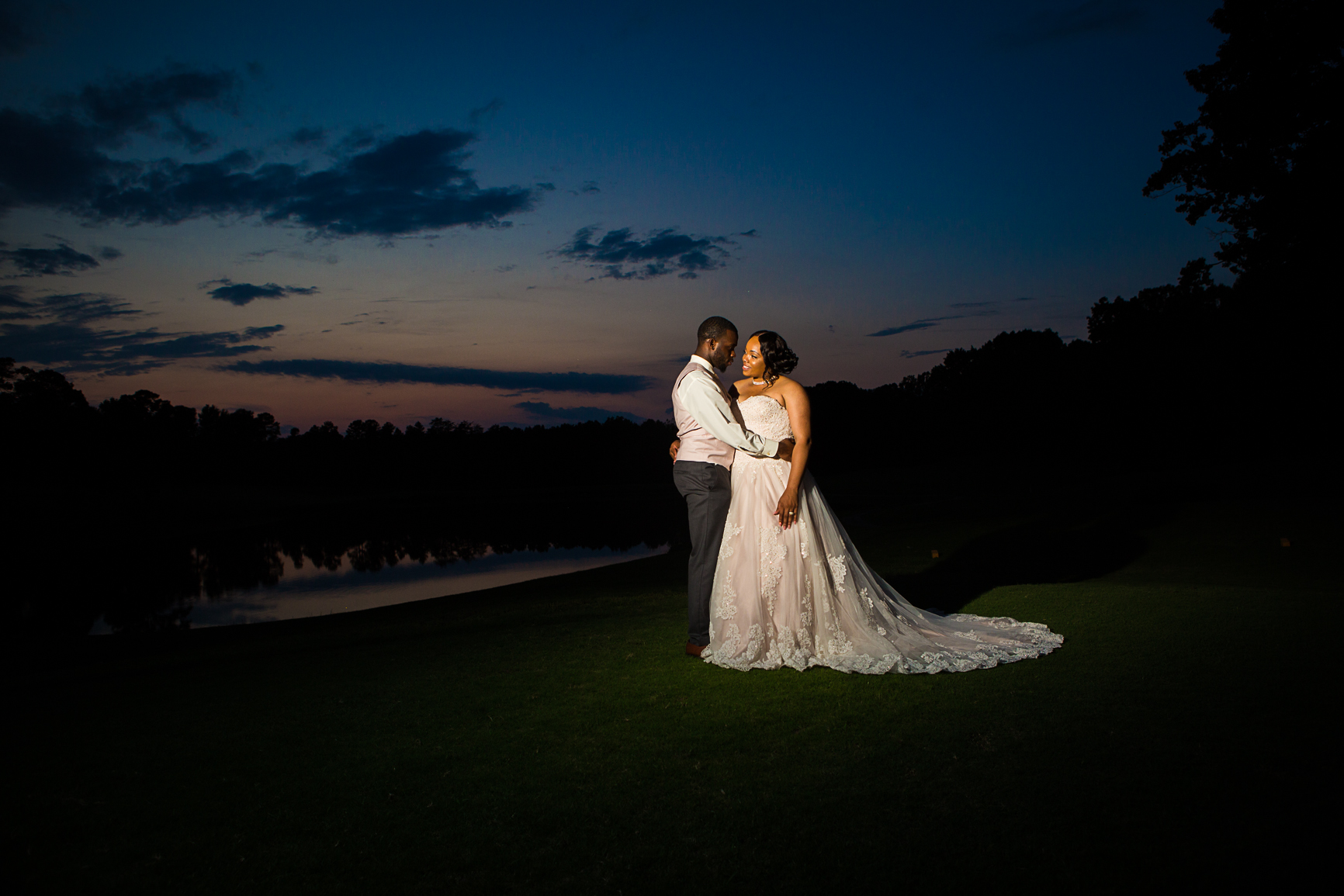 Wedding photography at Roxboro NC Country Club