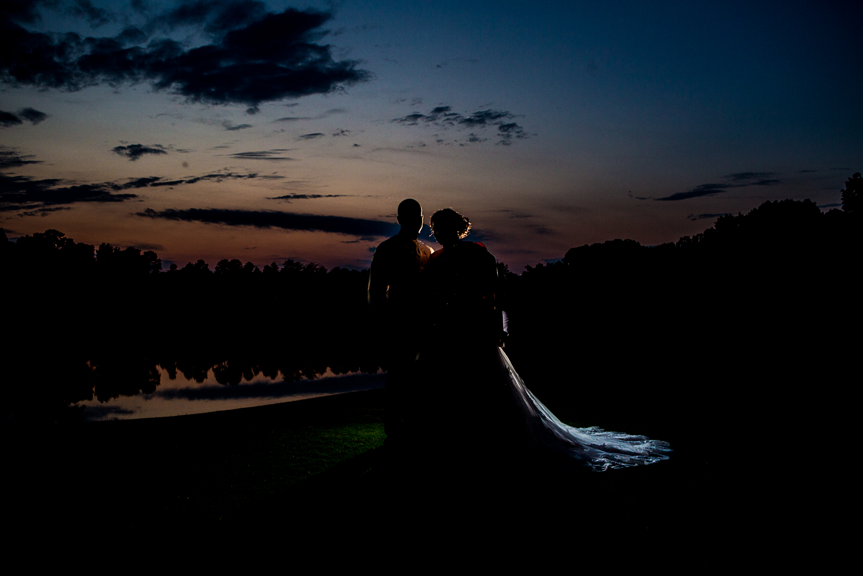 Wedding photography Silhouette Raleigh