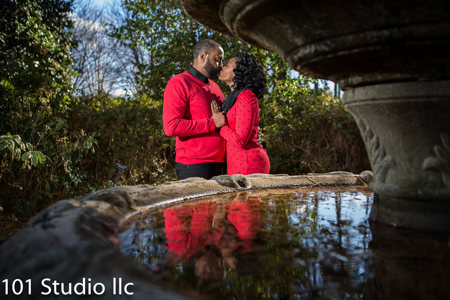 W RAL Azalea garden  Engagement session