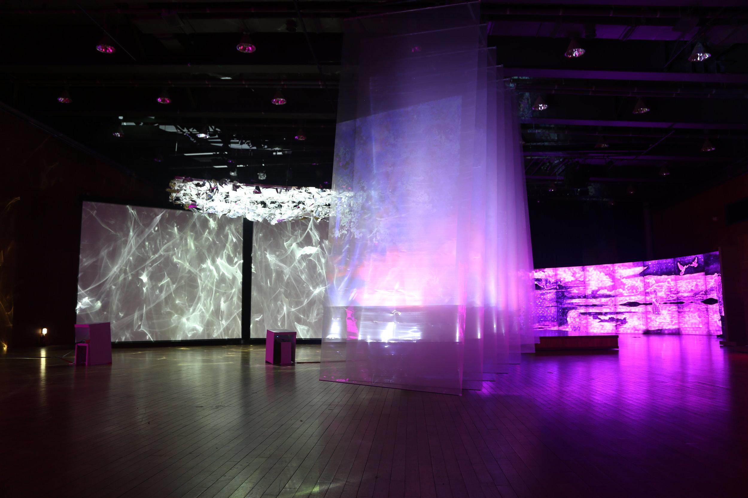 Eternal Light - dream video ,Transparent Screen, 5mx7mx2.3m  ,2017...JPG