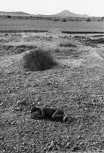 Abandoned Child on Road , Daneti, Kutch, 1968