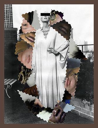 Untitled #11  (Halston Qiana nylon caftan for Dorian), from Inherited Patterns, 2014