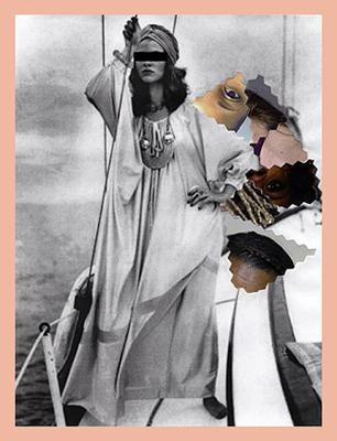 Untitled #1 (Maurice Antaya Qiana nylon caftan) , from Inherited Patterns, 2014