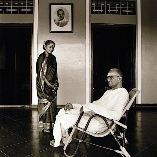 M.S. Subbulakshmi with Her Husband, T. Sadasivam, Madras, 1976