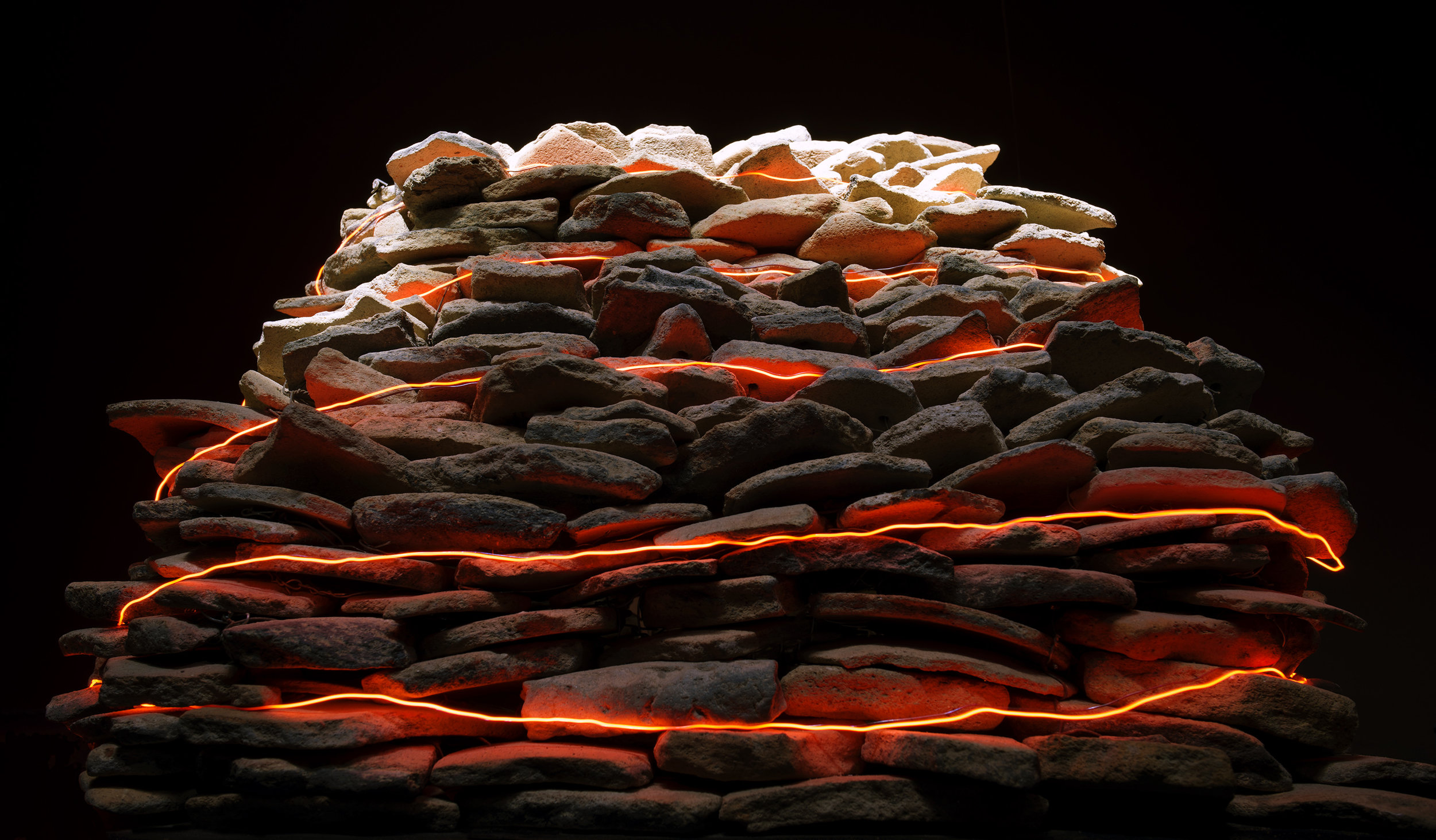 Vivan Sundaram,  Terraoptics Burnt Mound (Side View) , 2016
