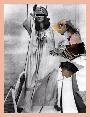 Qiana Mestrich, Untitled #1 (Maurice Antaya Qiana nylon caftan) , 2014