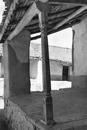 Bhupendra Karia,  Porch with Carved Post, Gujarat,  1969