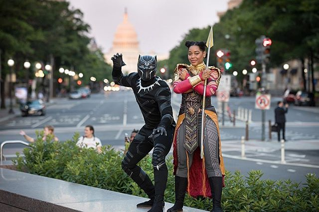 Black Panther viewing, as part of the Can I Kick It series from @downtowndcbid and @shaolinjazz | Freedom Plaza | Washington, DC @dj2tonejones #downtowndc #downtowndcbid #washingtondc #freedomplaza #canikickit #mytuesdayisbetterthanyours #shaolinjazz #blackpanther #wakandaforever