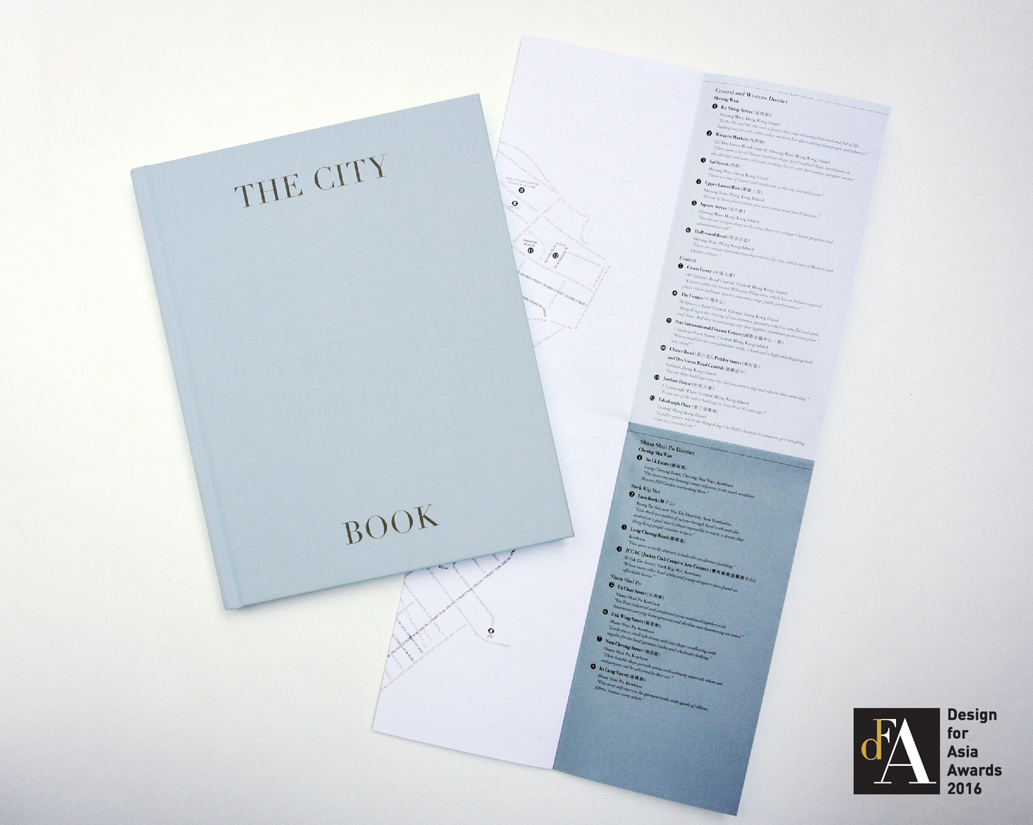 the city book and map - hong kong