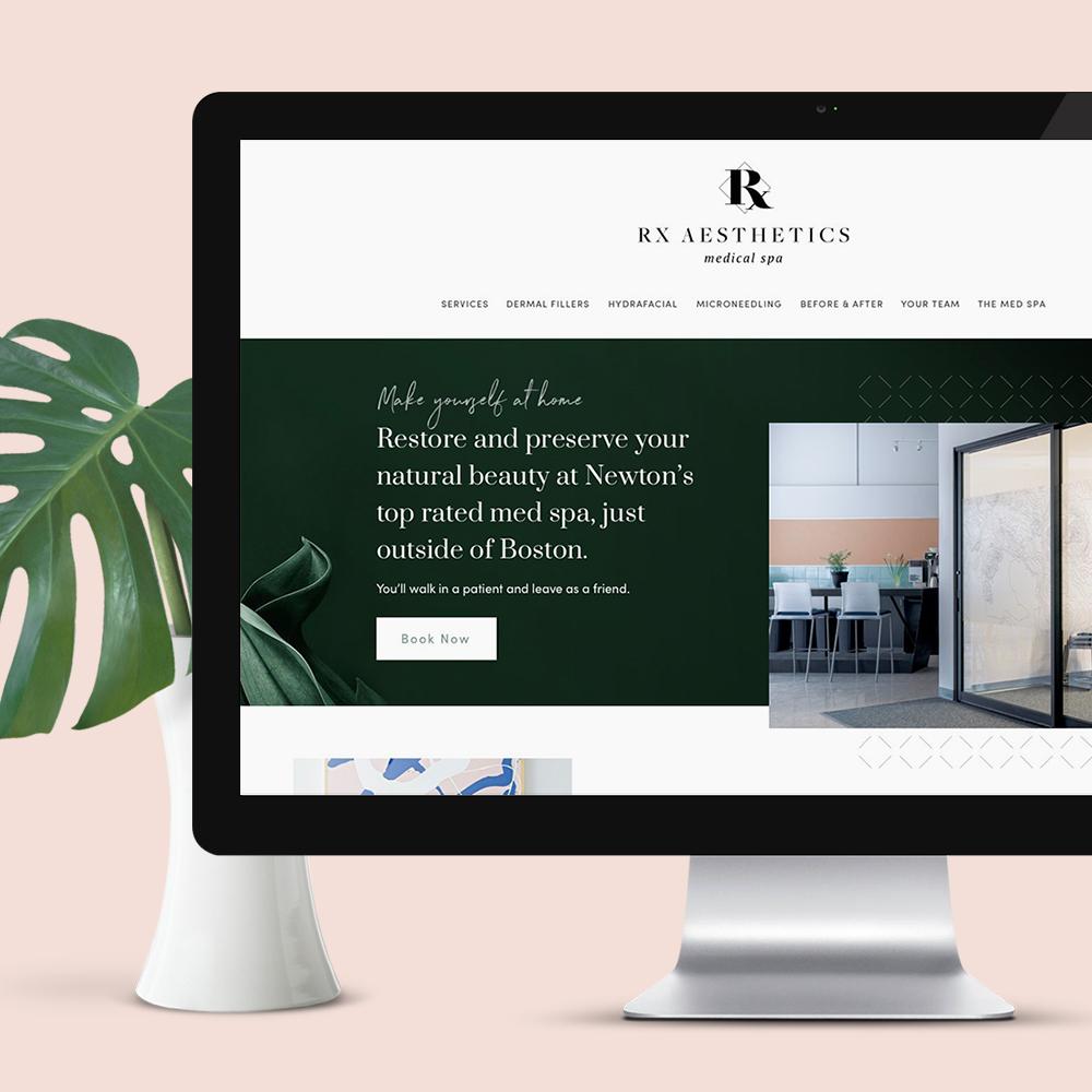 RX Aesthetics Medical Spa - Branding, Web Design