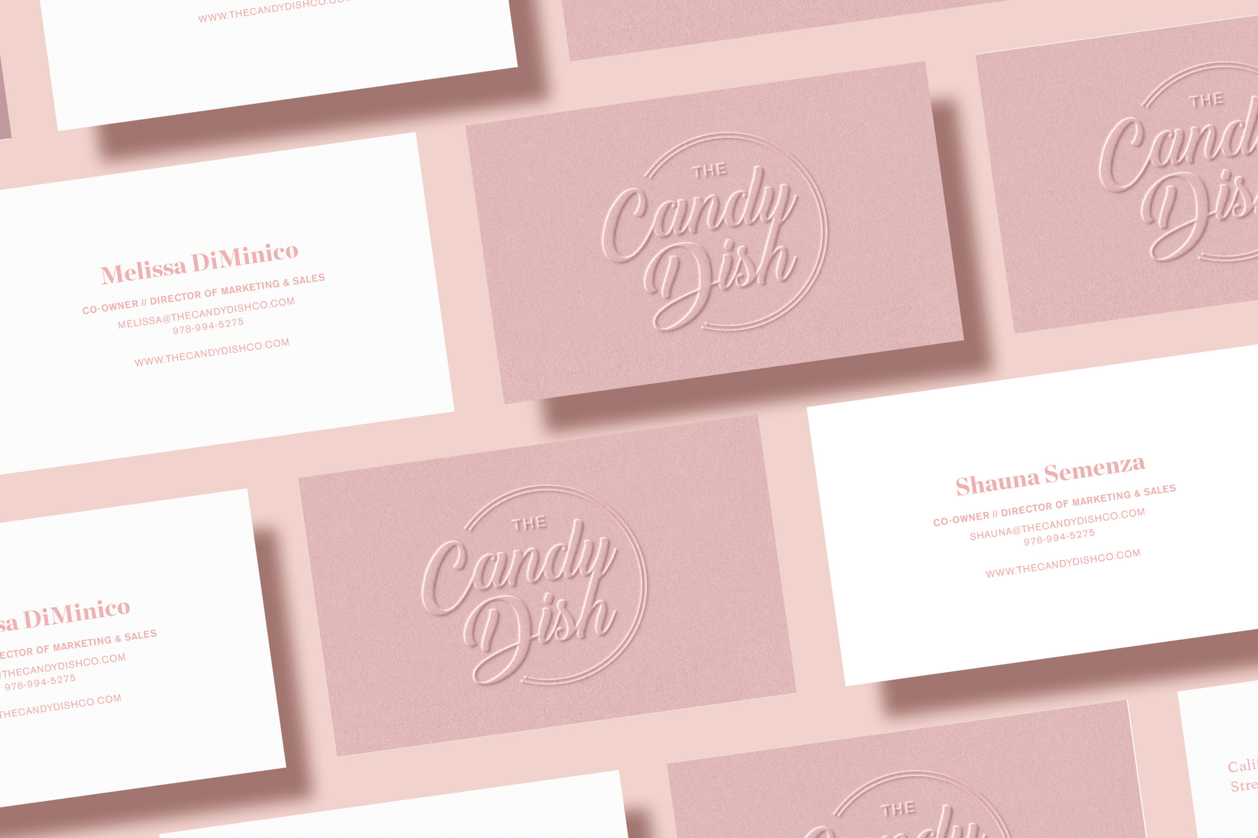 The Candy Dish Co - branding, web design, print design