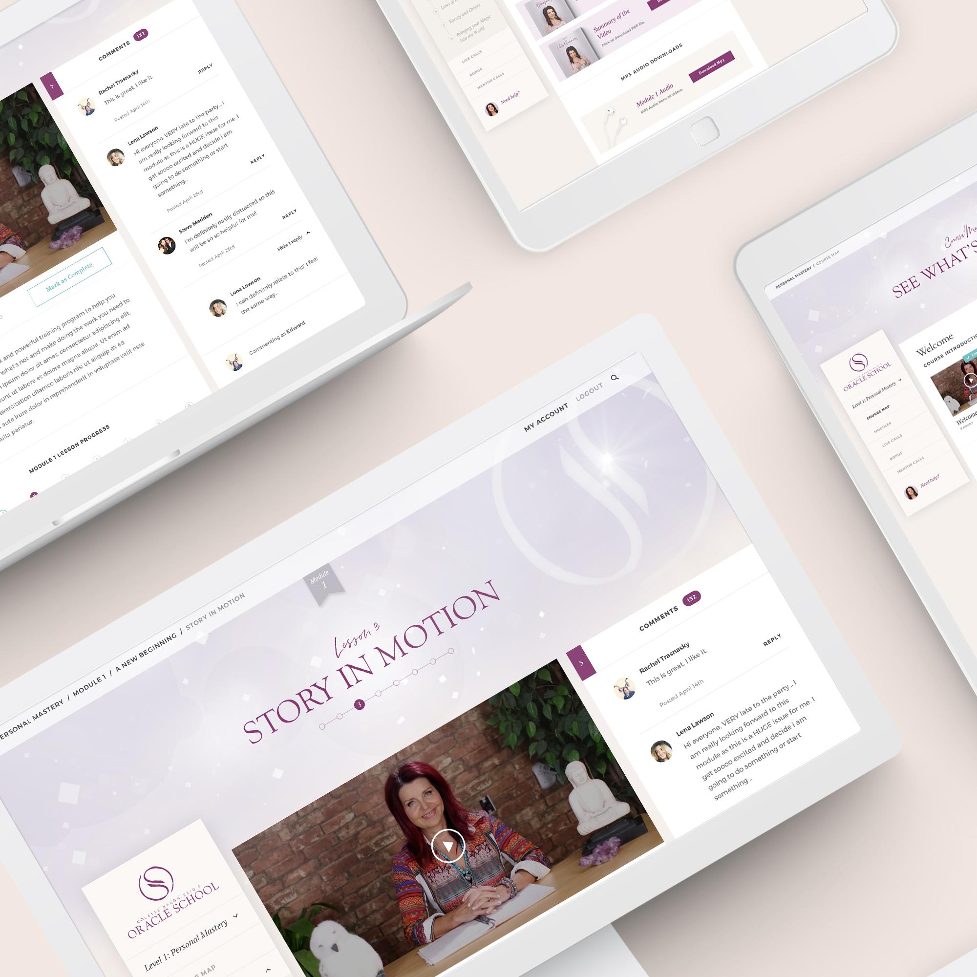 Colette Baron-Reid - Oracle School - web design, ux design